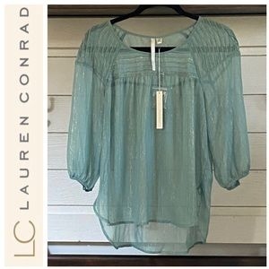 NWT  LC Lauren Conrad PinTuck Peasant Top Size: S